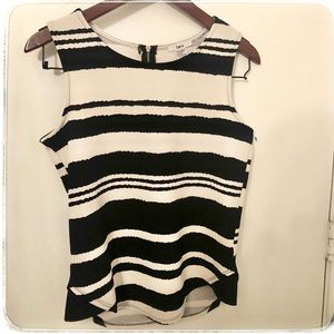 Bar III stripe career top size small
